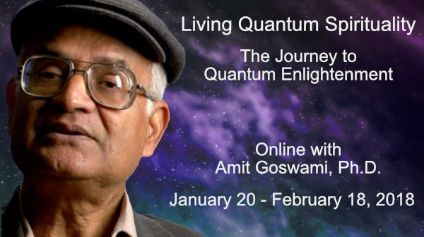 Living Quantum Spirituality workshop banner graphic