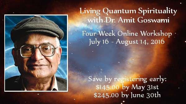 Living Quantum Spirituality workshop banner with all discount options
